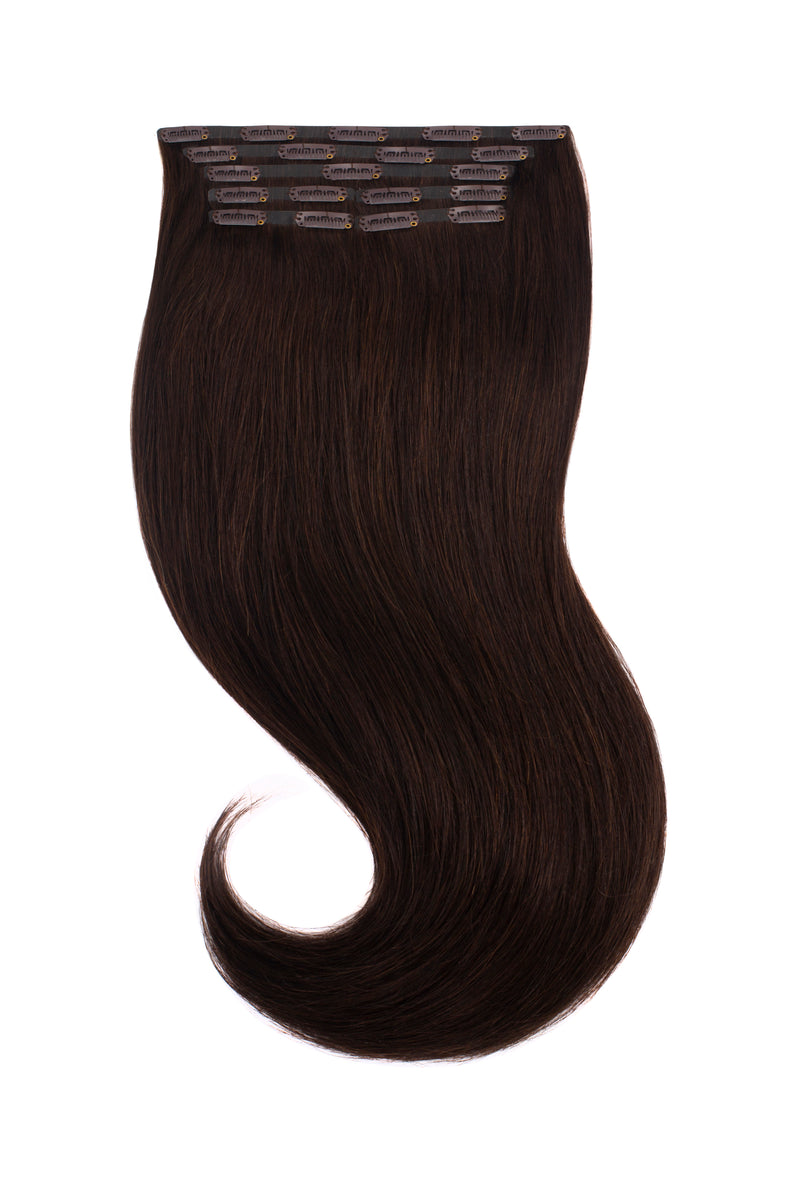 Espresso Black Brown Clip In Extensions