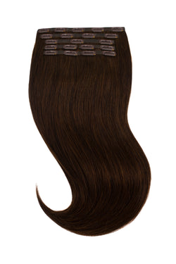 Cool Chocolate Brown Clip In Hair Extensions