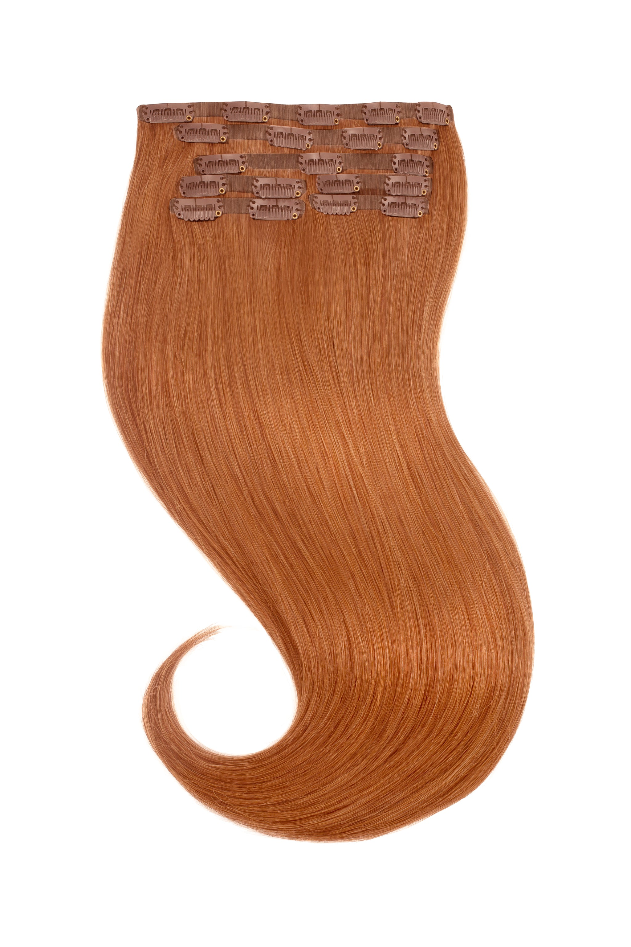 Red Pumpkin Spice Clip In Hair Extensions