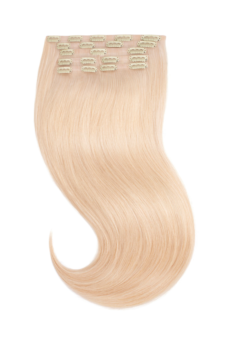 Platinum Ash Blonde Clip In Hair Extensions