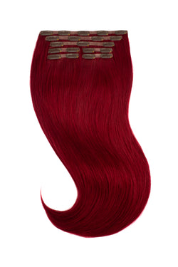 Red Cherry Wine Clip In Hair Extensions