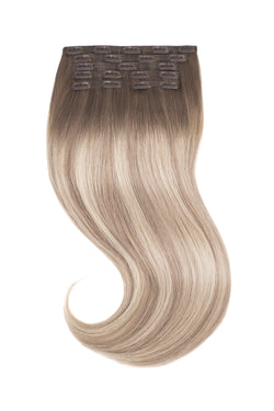 Cream Beige Blonde Balayage Clip In Hair Extensions