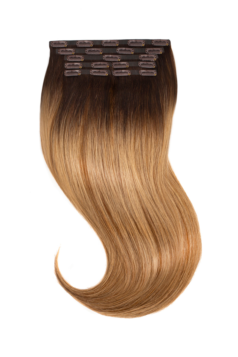 Mocha Bronde Balayage Clip In Hair Extensions