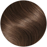 brown clip in beach waves hair