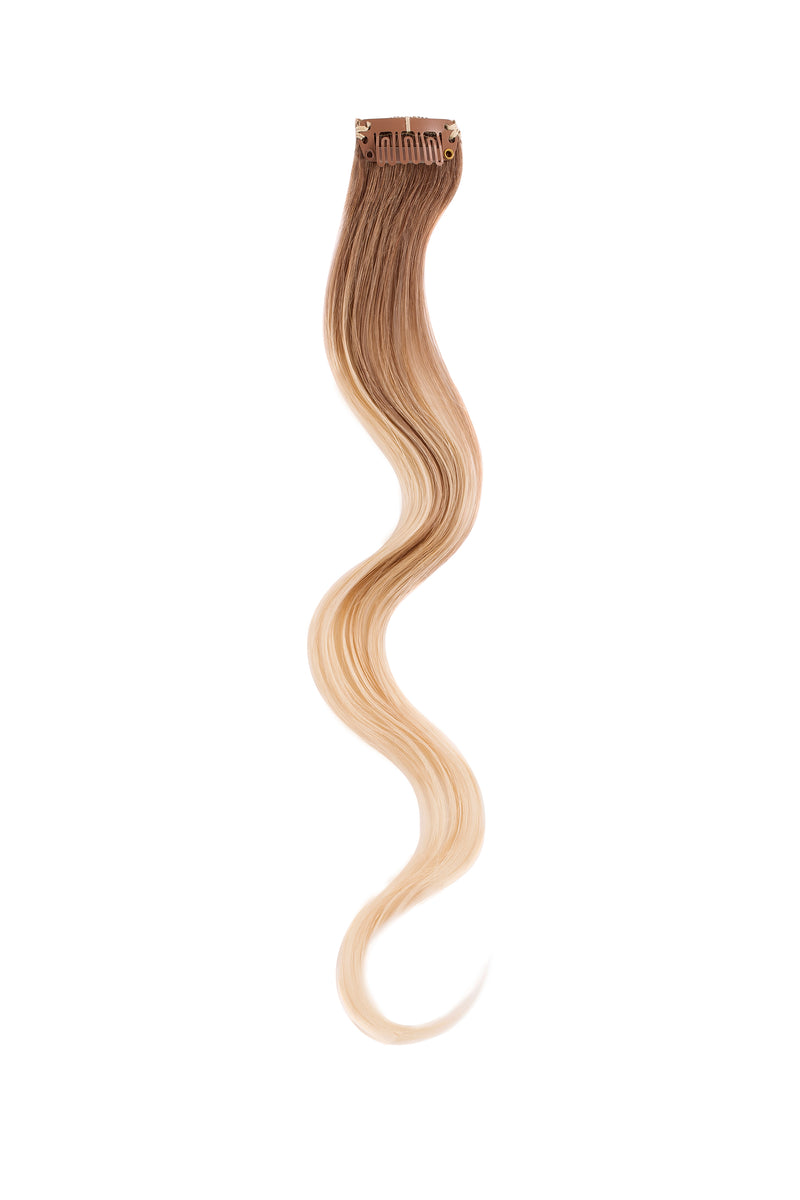 Cream Beige Balayage Beach Wave Clip Sample