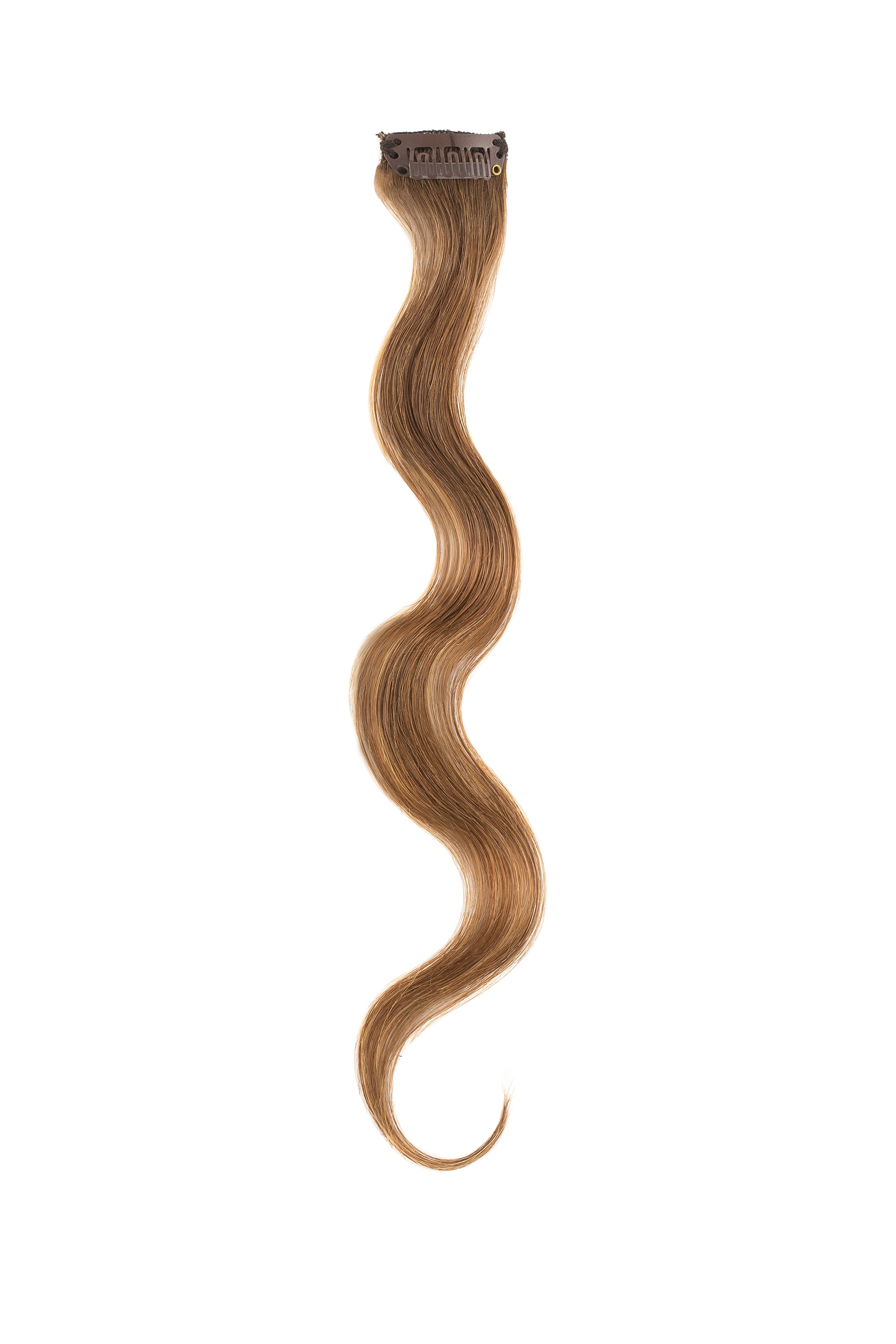Mocha Bronde Balayage Beach Wave Clip Sample