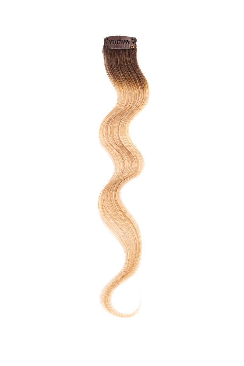 Rooted Butter Blonde Beach Wave Clip Sample