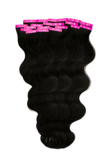 Jet Black (1) Wavy Tape In