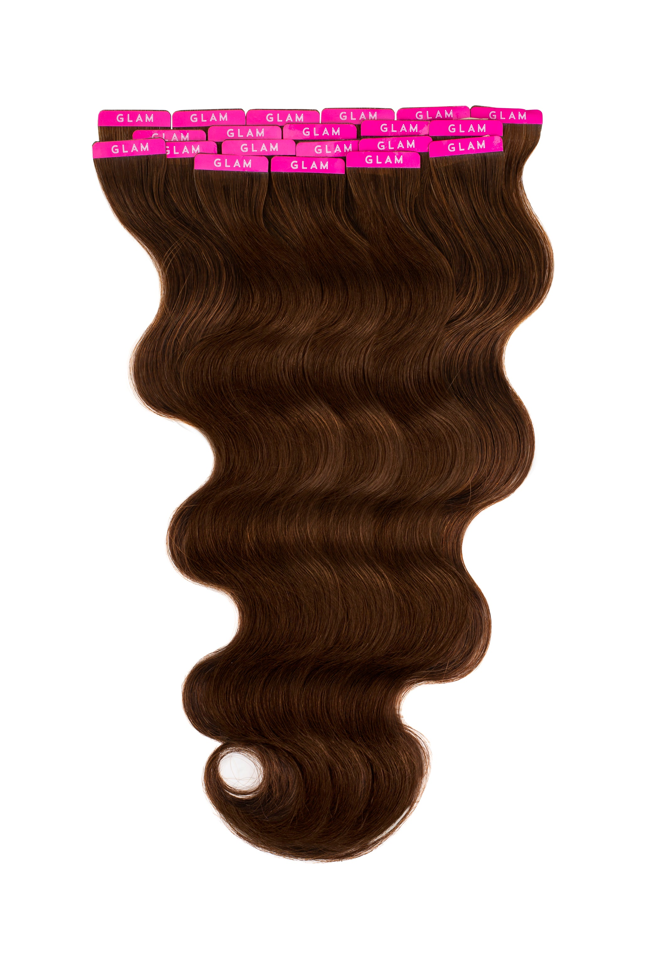 Chocolate Brown (3) Wavy Tape In