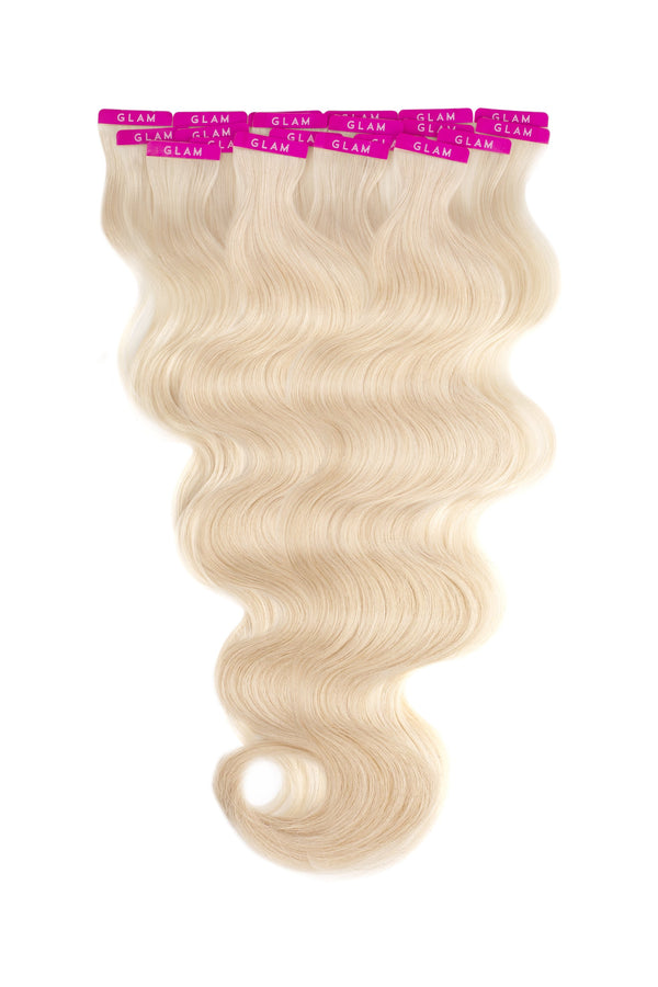 Platinum Ash Blonde (60) Beach Wave Tape In