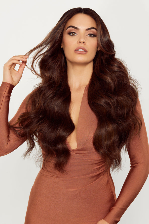 Single Clip Volumizer Chocolate Brown