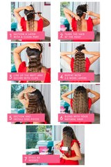 how to put in clip in hair extensions