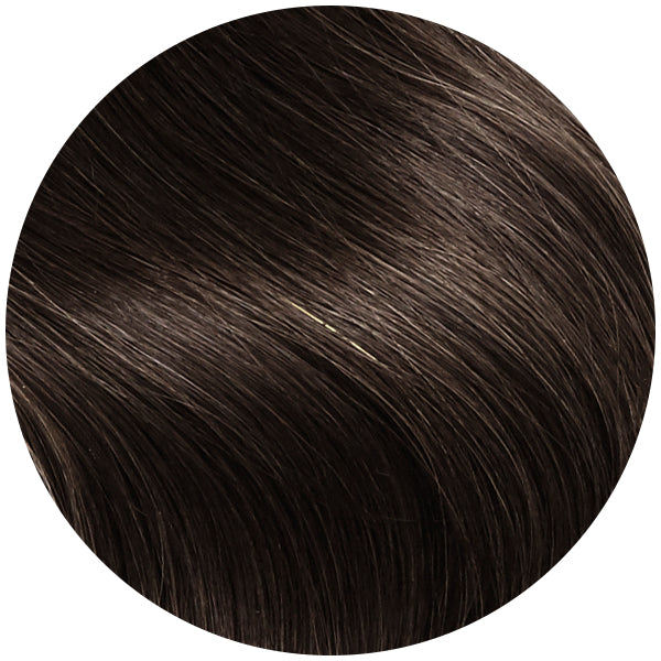 Traditional Hair Weft Bundle Dark Ash Brown