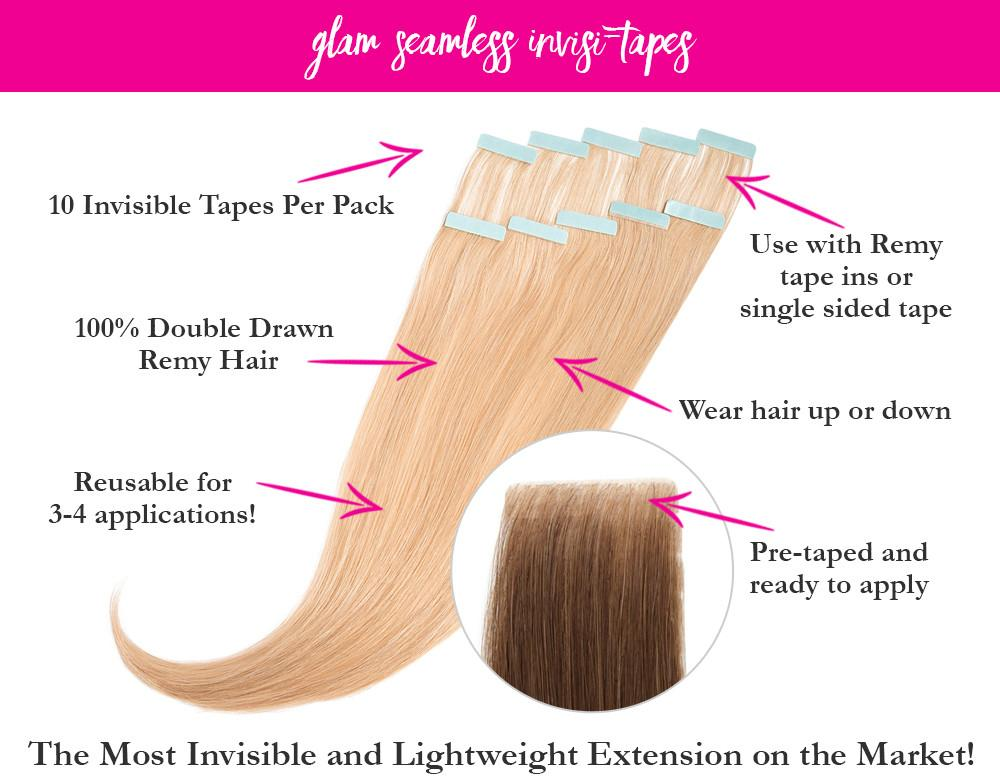Brown Highlights Invisible Tape In Hair Extensions