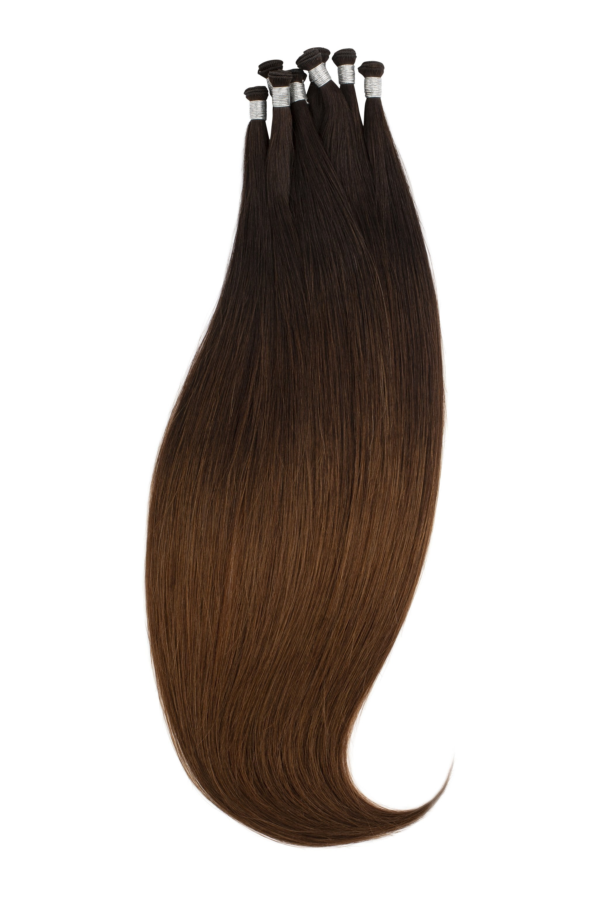Chocolate Dip Ombré (1B/2/4) Hand-Tied Wefts braidless sew in
