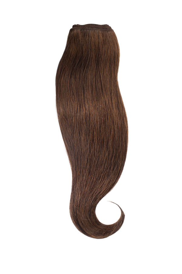 Dark Ash Brown Traditional Hair Weft Bundle