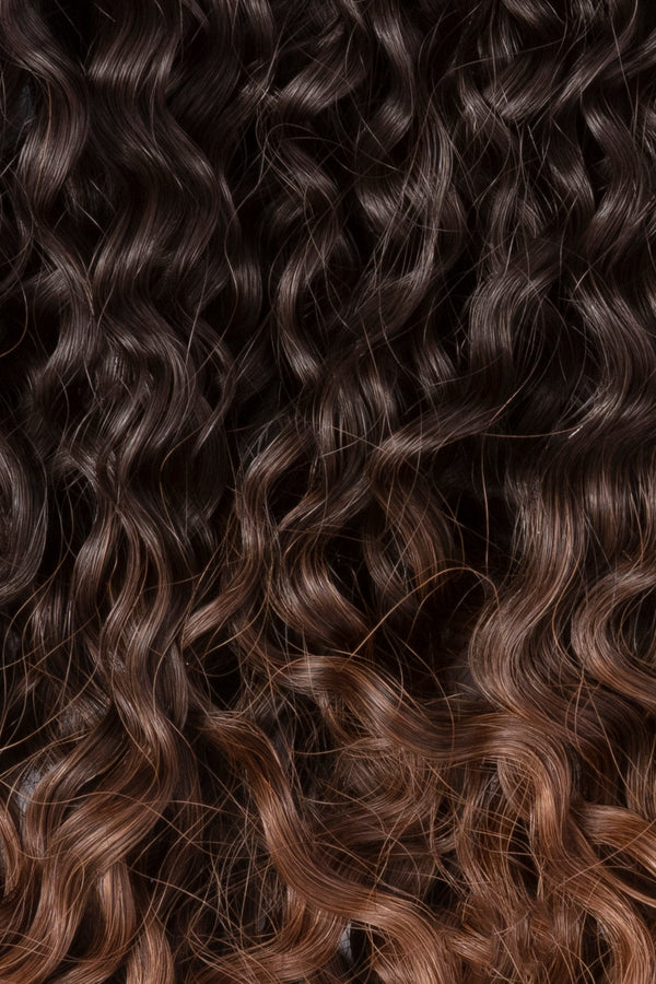Hawaii Balayage Tight Curl Clip In Hair Extensions