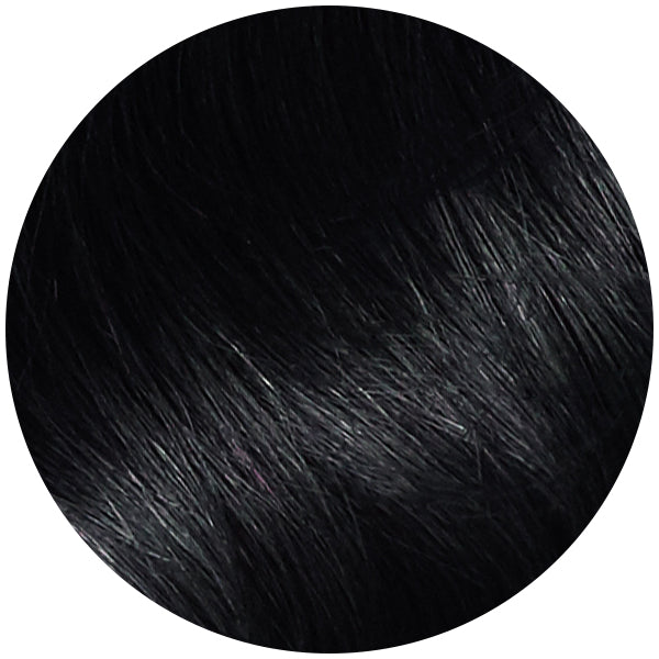 Seamless Clip In Hair Extensions Jet Black