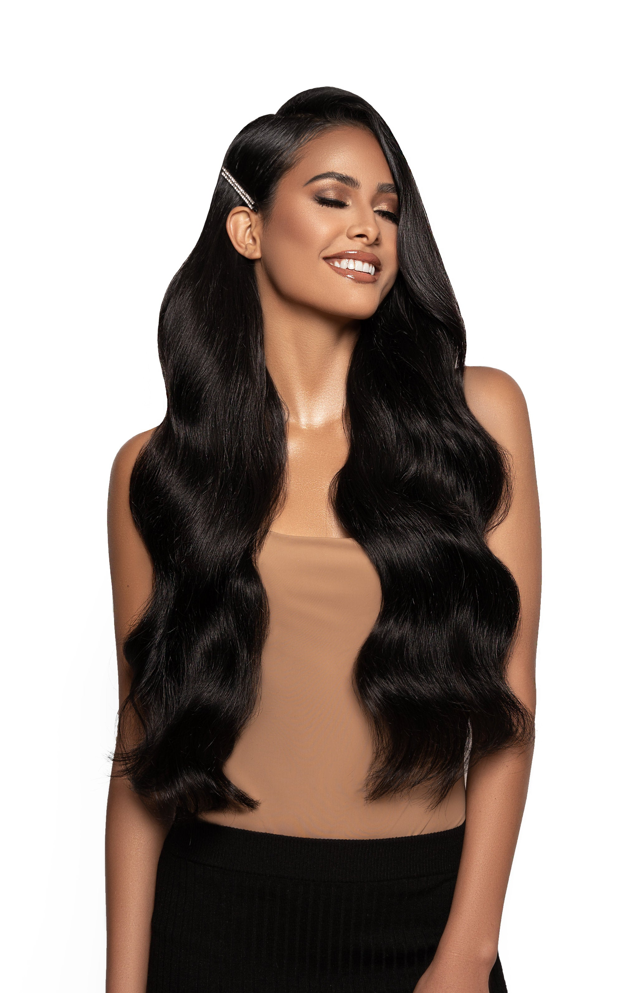 Jet Black Hair Extensions