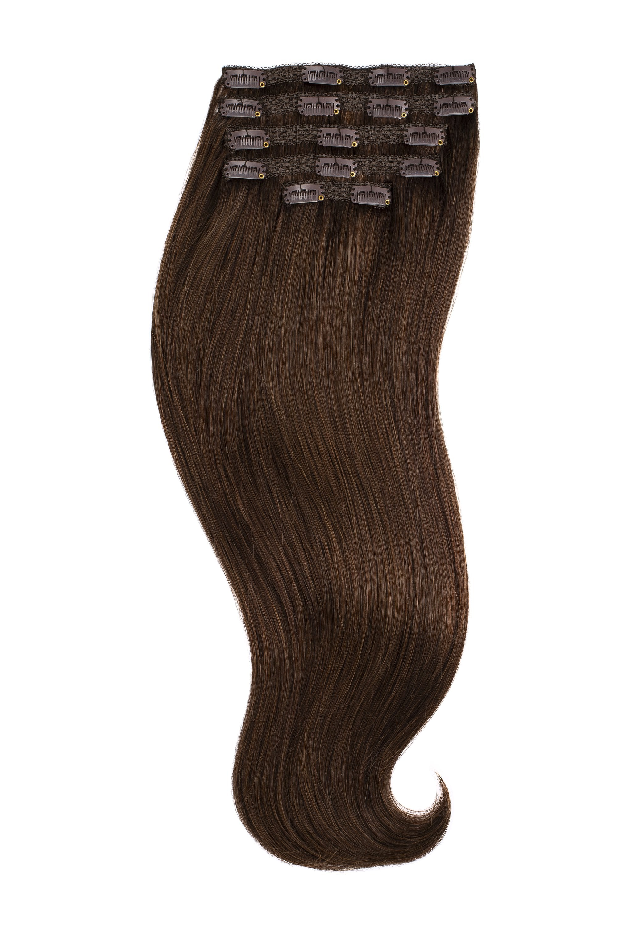 Dark Brown (2) Naturally Glam Lace Clip Ins