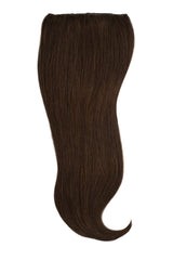 Dark Brown Silk Lace Clip Ins Hair Extension