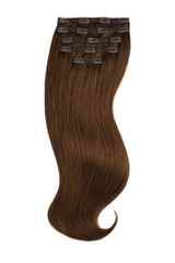 Light Chocolate Brown (4) Silk Lace Clip-Ins