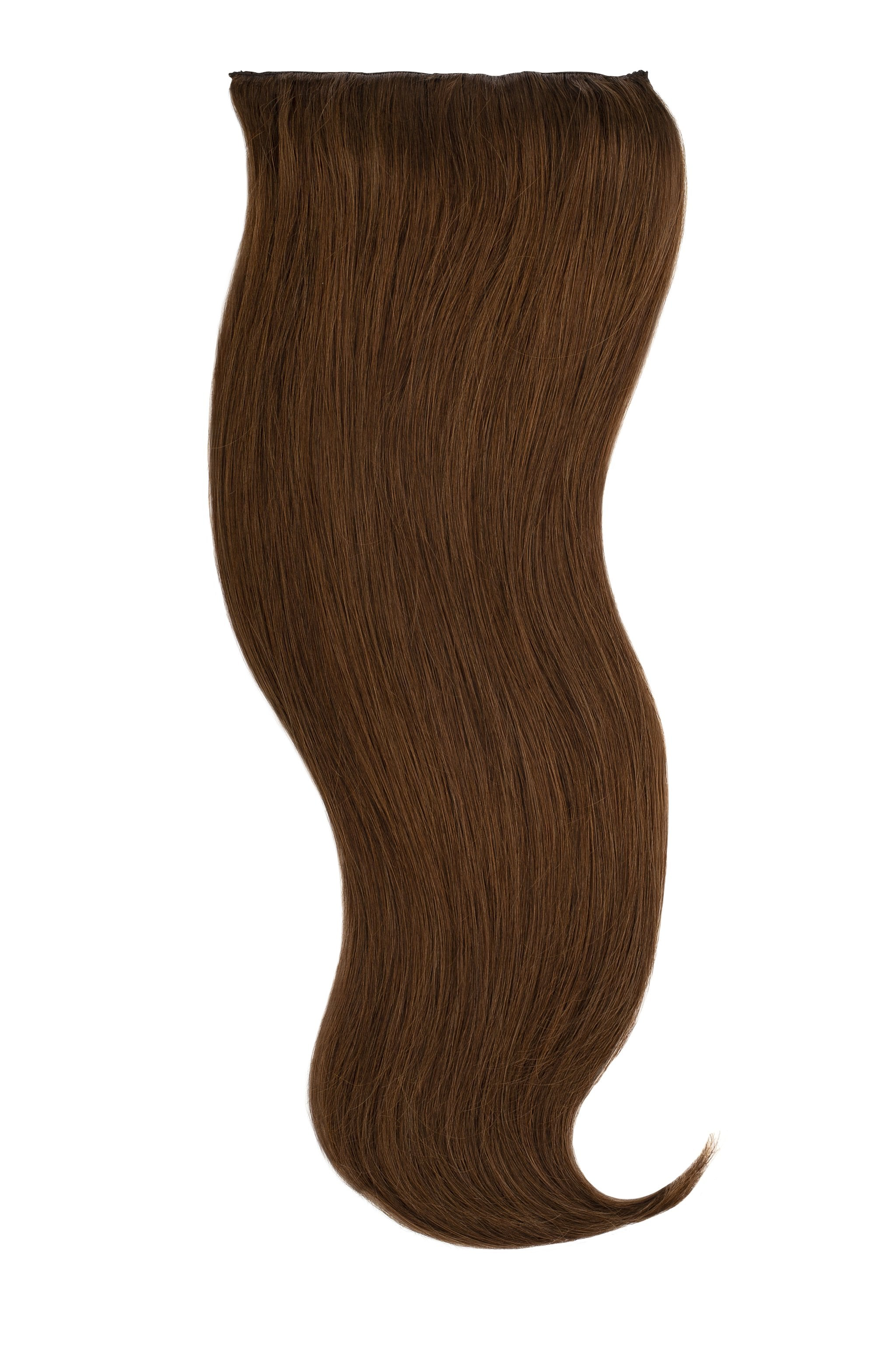 Light Chocolate Brown  (4) Naturally Glam Lace Clip Ins