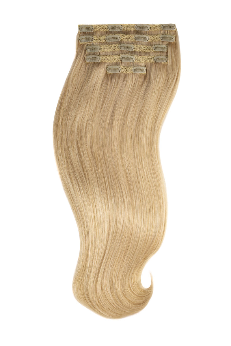 Light Golden Blonde (22) silk Lace Clip Ins