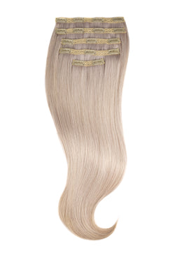Iced Blonde 60s silk Glam Lace Clip Ins