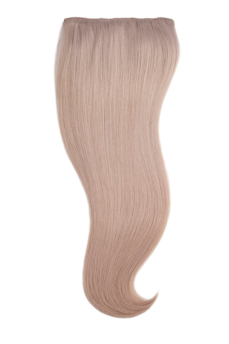 Iced Blonde Silk Lace Clip Ins Hair Extension