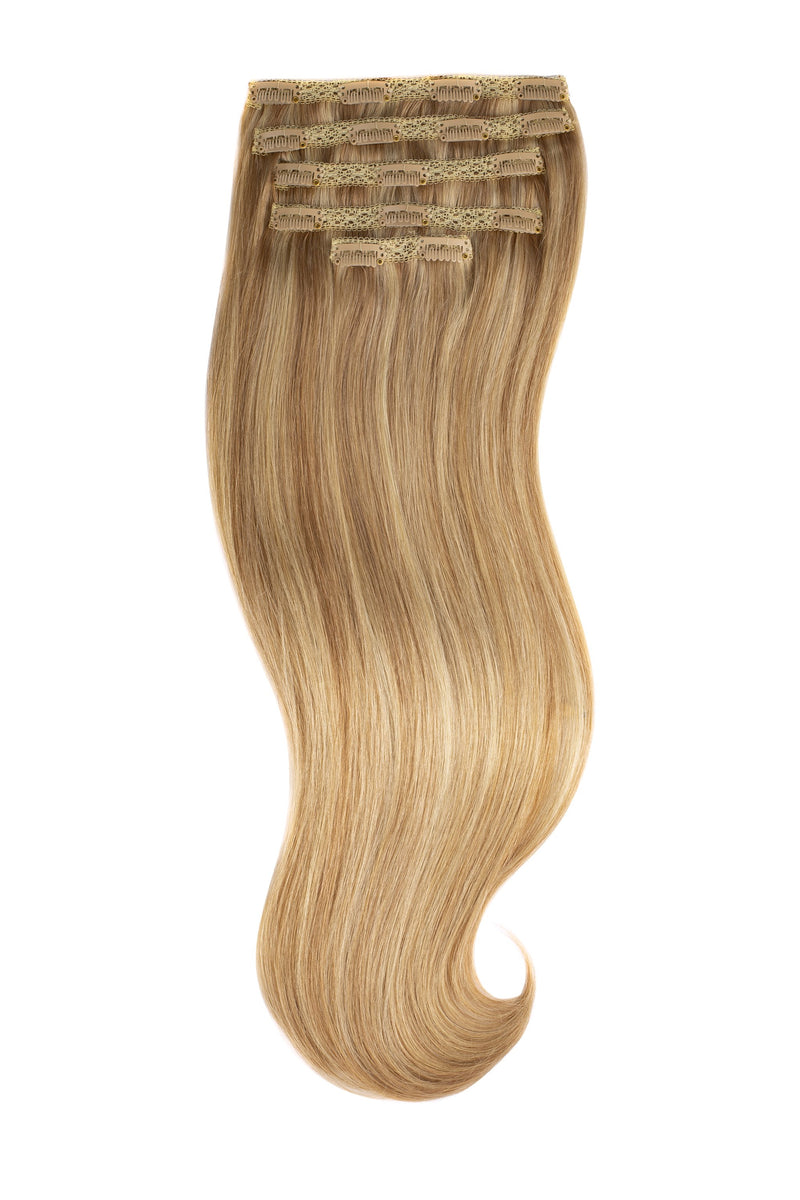 Sunkissed Blonde Highlights (18/22) Silk Lace Clip-Ins