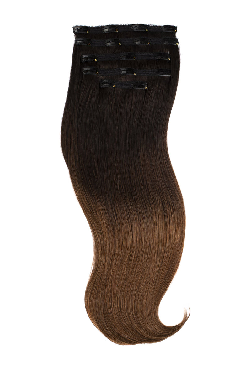 Chocolate Dip Ombré (1B/2/4) Naturally Glam Lace Clip Ins