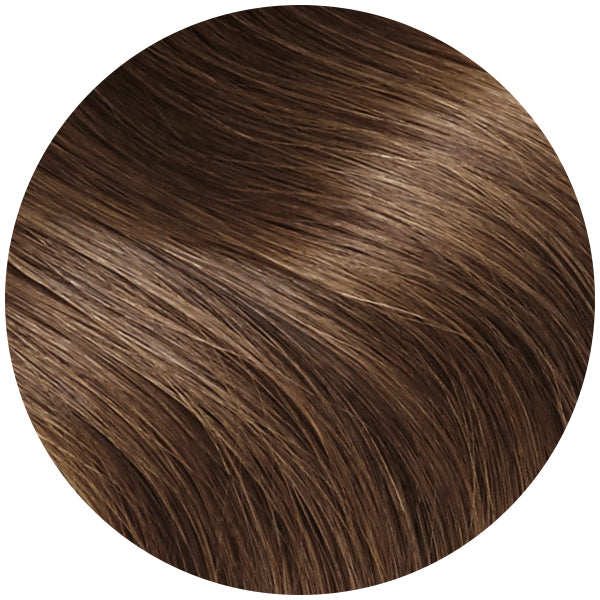 Light Chocolate Brown Ultra Seamless Tape In Hair Extensions