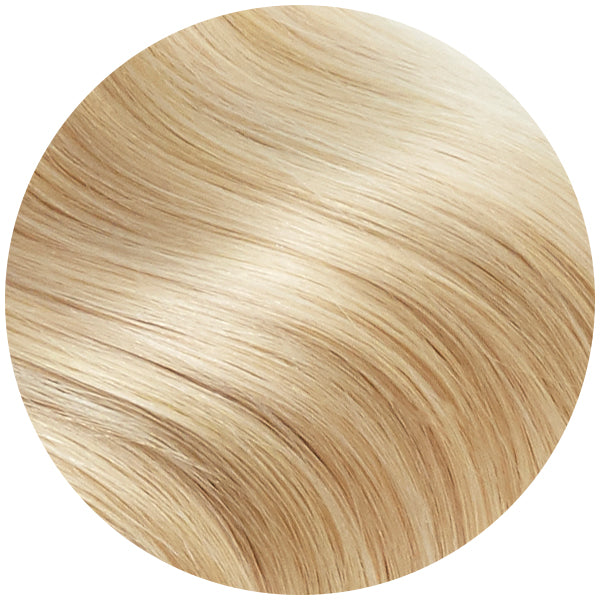 Light Golden Blonde Ultra Seamless Tape In Hair Extensions