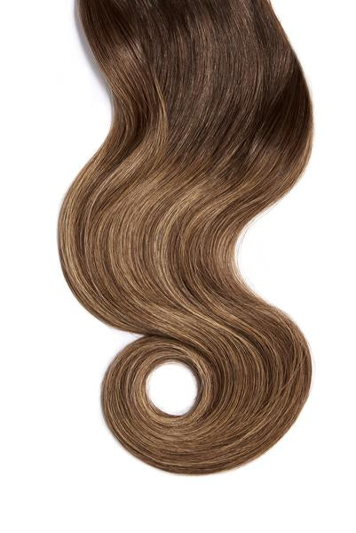 Mocha Bronde Balayage Skin Weft Hair Extensions