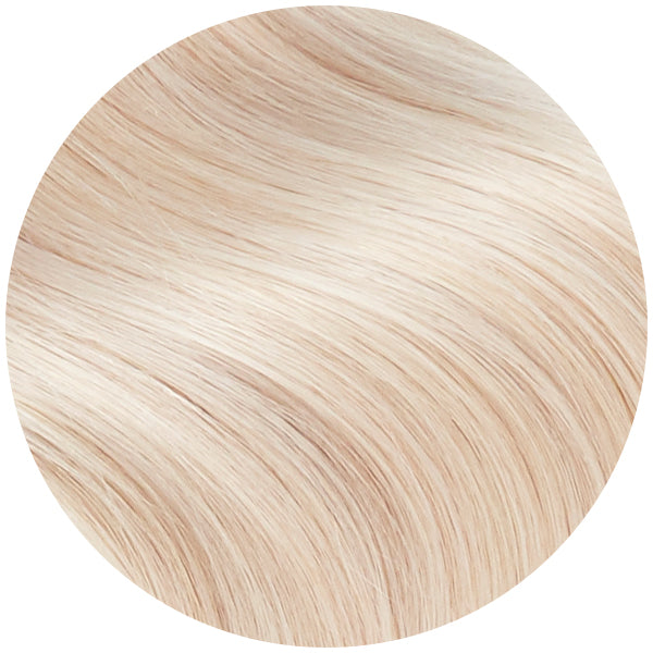 Platinum Ash Blonde Wavy Tape In Hair Extensions