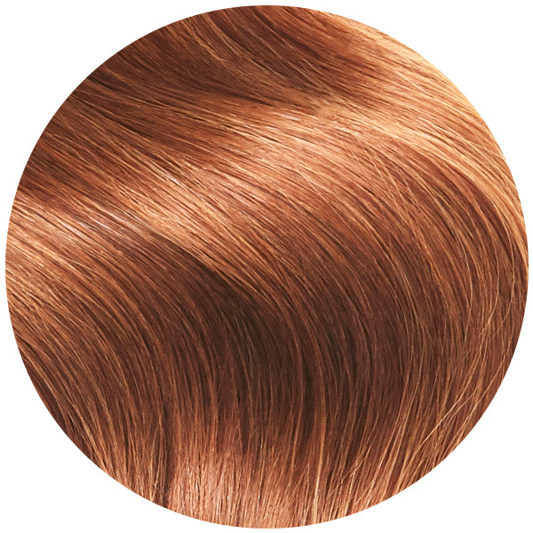 Remy Tape In Hair Extensions Pumpkin Spice Red