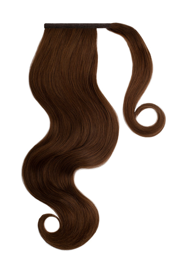 Clip In Ponytail Hair Extensions Chocolate Brown