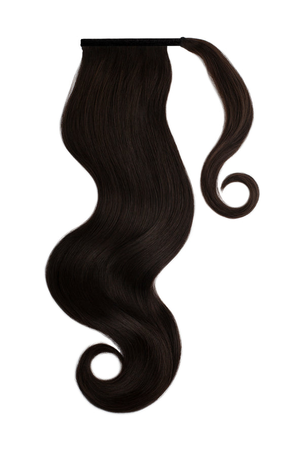 Clip In Ponytail Hair Extension Natural Black