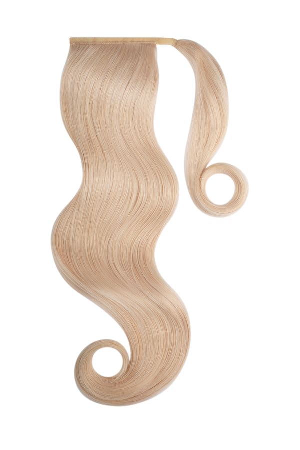 Platinum Ash Blonde Clip In Ponytail Hair Extension