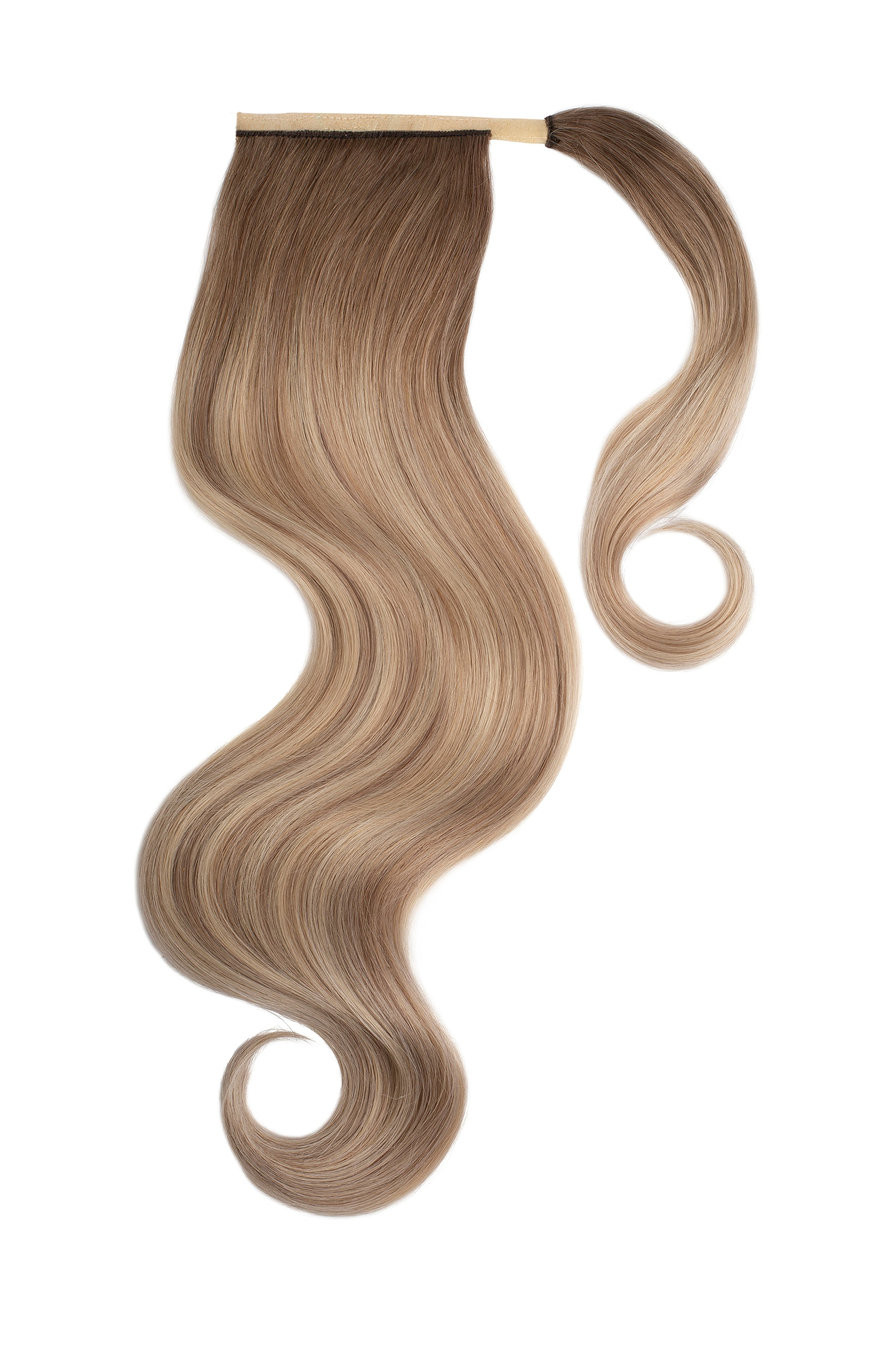 Cream Beige Balayage Clip In Ponytail Hair Extensions