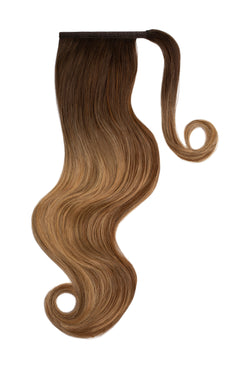 Mocha Bronde Balayage Clip In Ponytail Hair Extensions