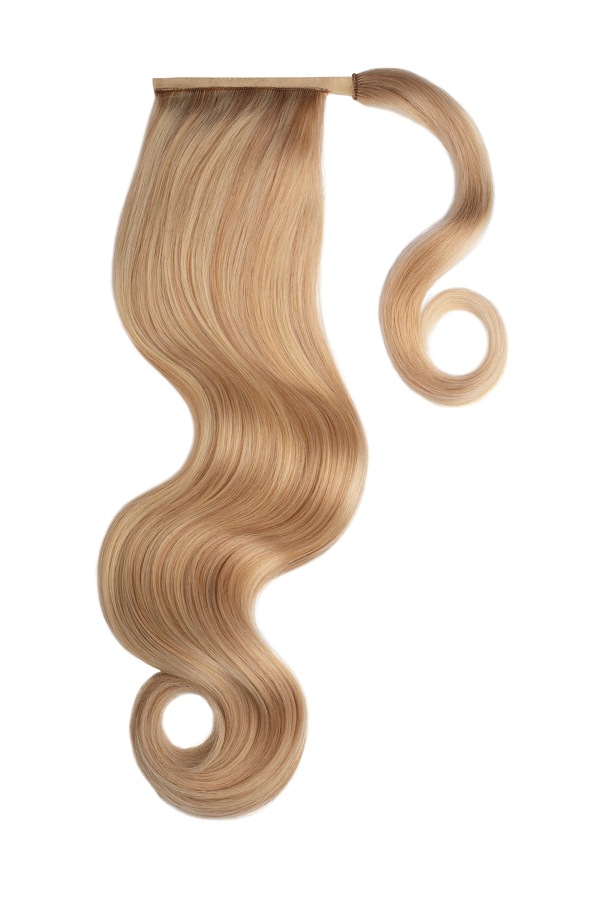Blonde Highlights Clip In Ponytail Hair Extensions
