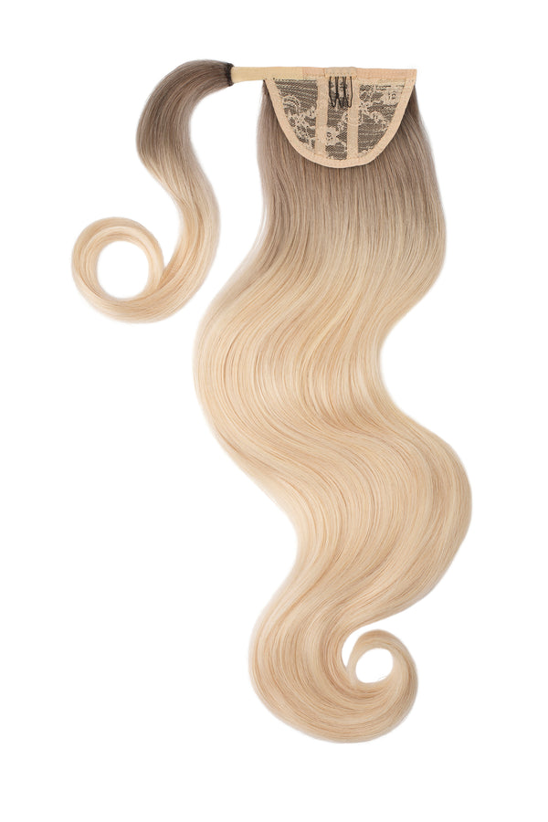 Santa Monica Blonde Ombre Clip In Ponytail Hair Extensions