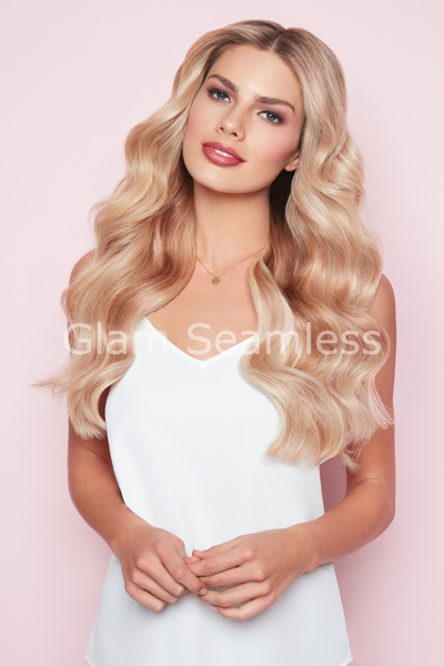 natural blonde highlight low light hair extensions
