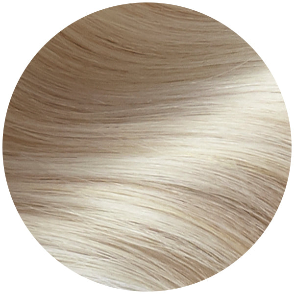 Rooted Dirty Blonde to Platinum Traditional Hair Weft Bundle