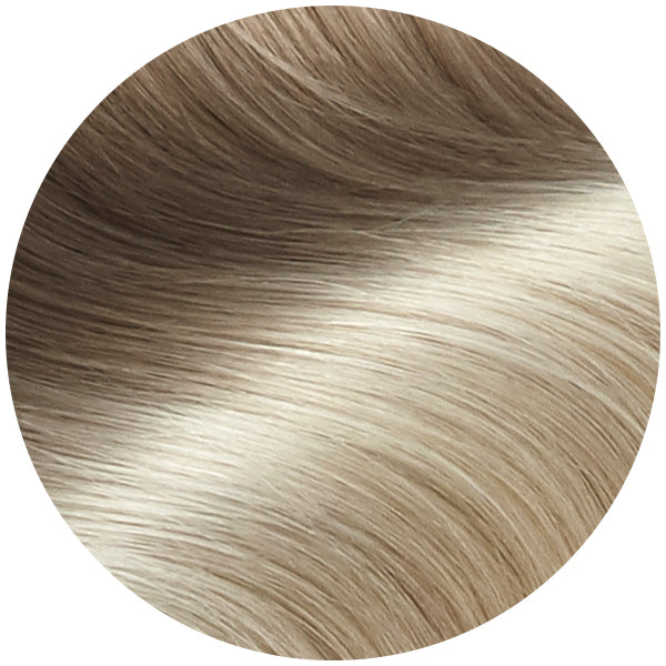 Rooted Ash Blonde To Platinum Traditional Hair Weft Extension