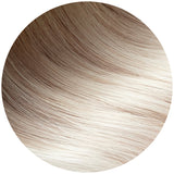 Rooted Dark Ash Brown to Platinum Ash Blonde Traditional Hair Weft Bundle
