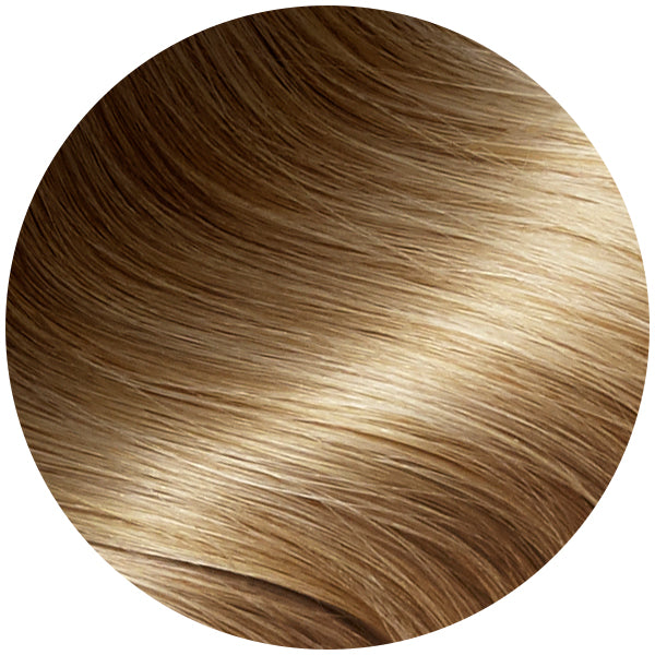 Rooted Brown To Blonde Traditional Hair Weft Bundle