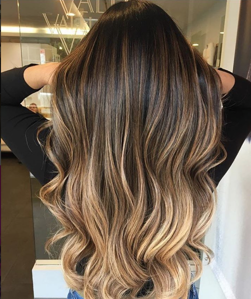 Chocolate Golden Ombre 4/6/27 Tape In